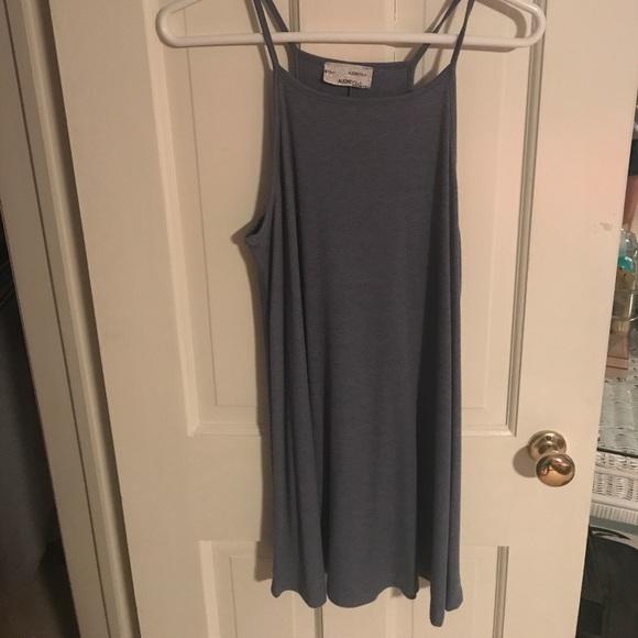 Audrey 3+1 Dresses & Skirts - Blue high neck summer dress